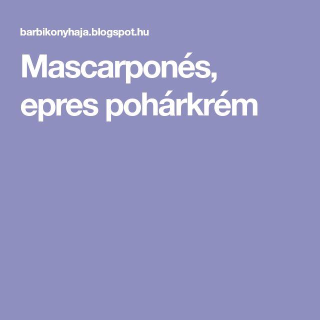 Mascarponés, epres pohárkrém