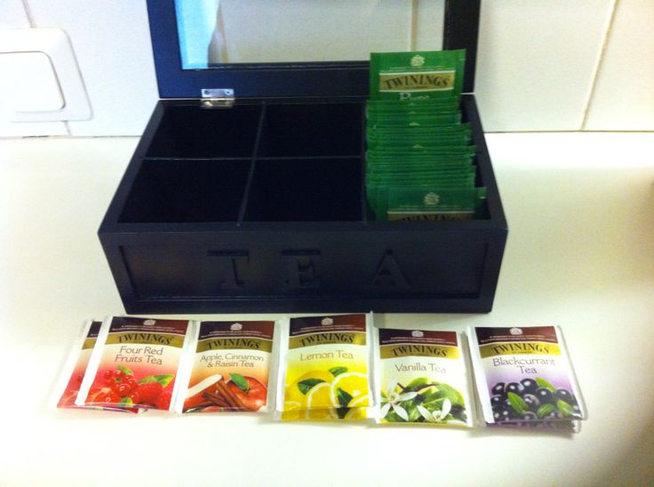 Bought tea box and tea experimenting began! 2014 before trip to UK :D