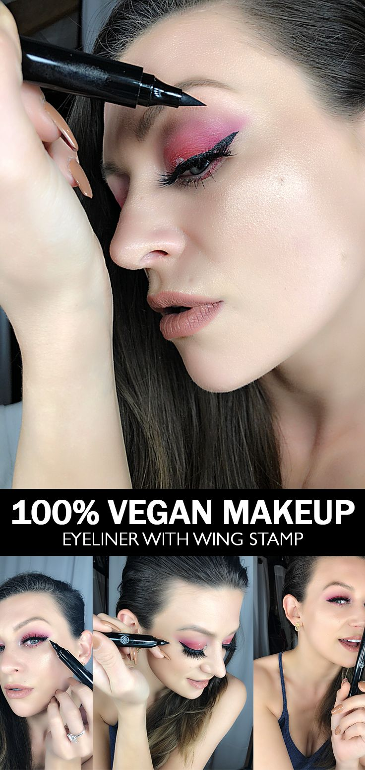 Our newest dual tipped #eyeliner rocking an amazing line pen on one side and an on-point wing stamp on the other. Seriously the best eyeliner and wing stamp pen out there! Smudge and transfer proof Stays all day 100% #Vegan Cruelty-free #makeup #veganmakeup #veganeyeliner #eyeshadow #mua #makeupartist #crueltyfree