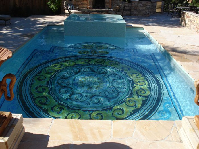 74 best images about swimming pools on pinterest for Pool design tiles