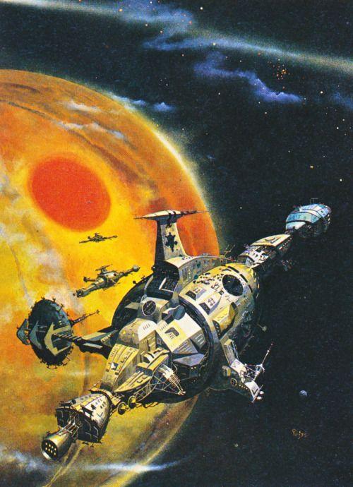 retroscifiart: Peter Jones - Buy Jupiter (1975) from his retrospective art book Solar Wind (1980)