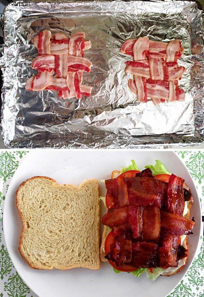 MENTŐÖTLET - kreáció, újrahasznosítás: Baconos szendvics