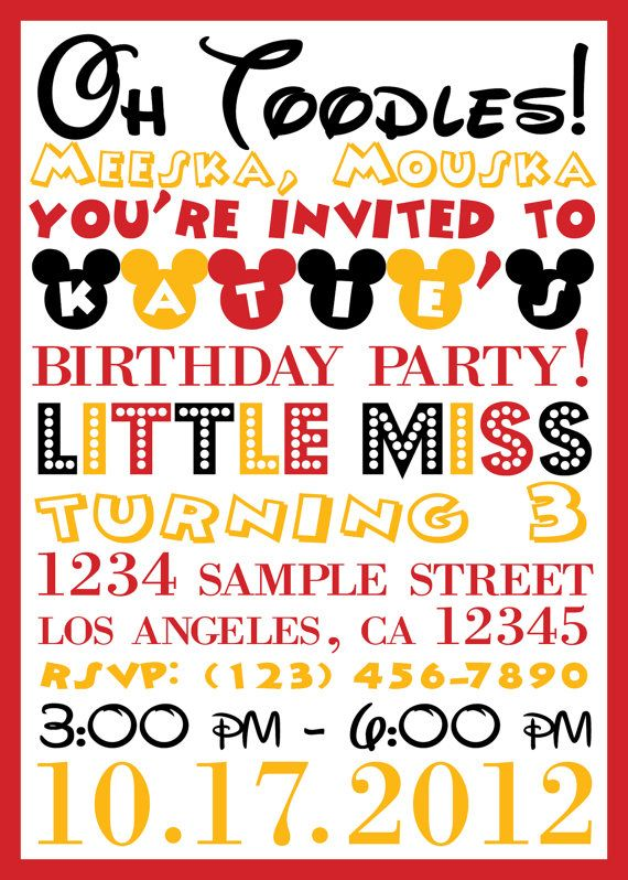 11 best Oh Two-dles!!! images on Pinterest Birthday parties - best of sample invitation to birthday party