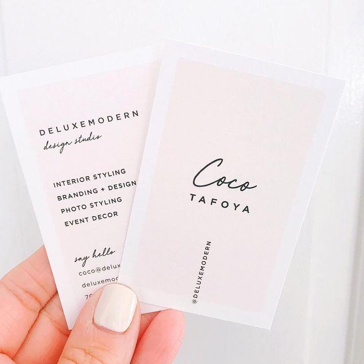 """Nothing like having fresh new business cards. deluxemodern"