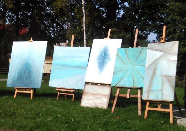 Malarstwo strukturalne by Sylwia Michalska - wystawa w plenerze
