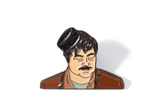 Dronken Ron Swanson glazuur Pin - parken en recreatie - behandelen Yo Self