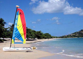 Vigie Beach, Castries.  The nearest beach to the cruise port.
