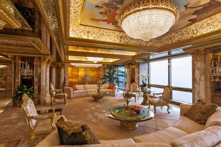 __ALL THAT GLITTERS__ Inside Donald Trump's penthouse atop Trump Tower.