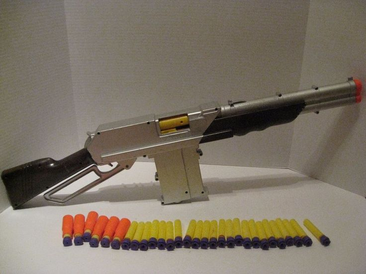 Painted Buzz Bee Toys Rapid Fire Rifle w/ Clip 20 Darts Cosplay Works Brown #BuzzBeeToys