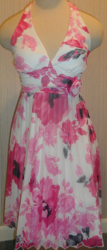 Speechless Ladies Pink Floral Halter Dress Juniors Sizes Small, Medium, Large #Speechless #TeaDress #Casual