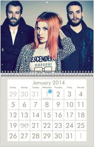 Paramore 2014 Wall Calendar - $30