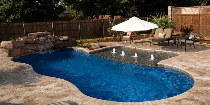 Swimming Pool Features Ideas contemporary outdoor water fountain ideas in outdoor swimming Fiberglass Vs Vinyl Pools Whats Right For My Family Call Dynasty Perfect Backyard Pinterest Pool Coping And Artificial Rocks