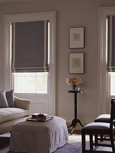 Roman blinds with stripe