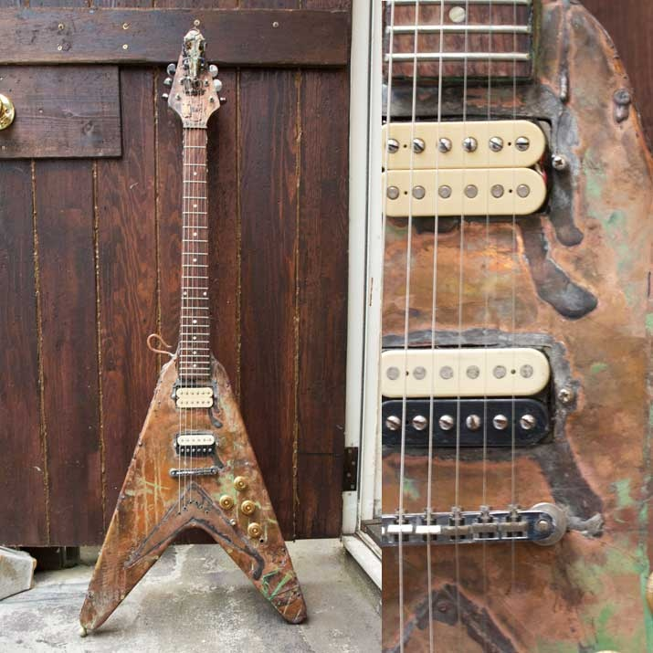 Flying V electric guitar  Artist Art  http://heavenscafe.net/?mode=grp=176750