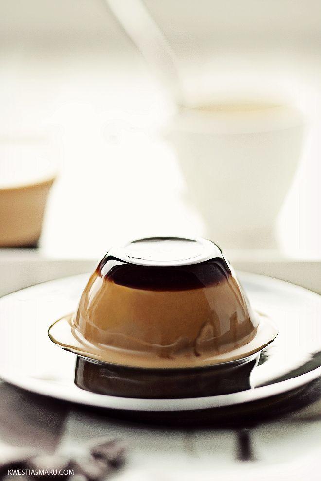 przepis na deser panna cotta, z likierem kawowym lub amaretto, deser kawowy