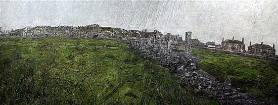 'VIEW OF ST JUST' | David Haughton (1924-1991): 29 x 72 in     ✫ღ⊰n
