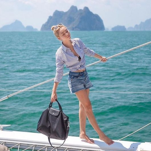 This heat, go to the sea, and wear comfortable with storage Le Pliage Neo is pretty good. #longchamp   #ss16   #fashion  Longchamp Sale at http://www.lo... - LongChamp Sale - Google+