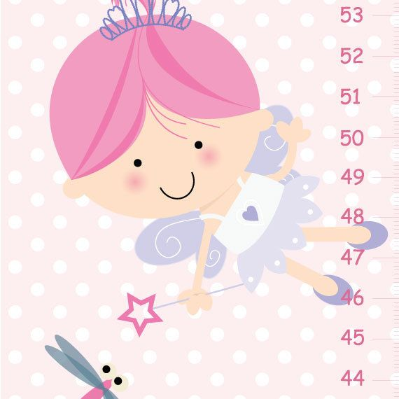 Personalized Canvas Growth Chart Fairy by KidODesignStudio on Etsy