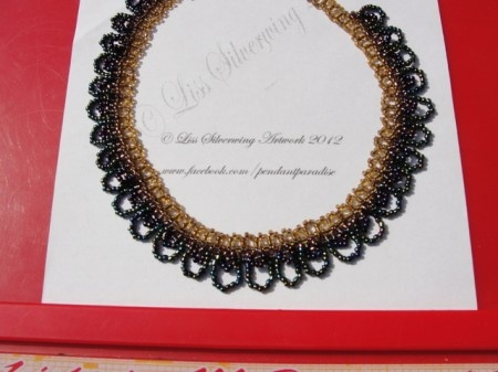 I checked out Elegant seed beaded necklace on Lish, €31.50