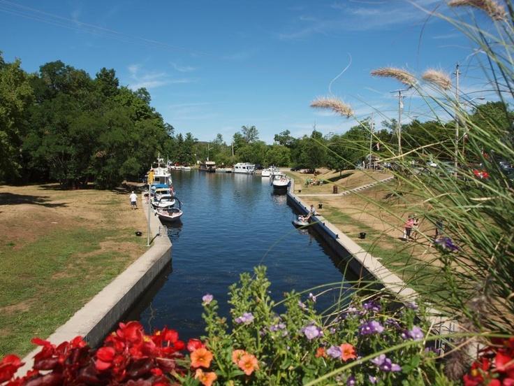 Bobcaygeon locks, part of the Trent-Severn waterway