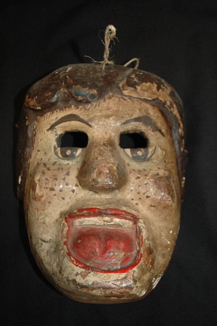 VINTAGE Guatemalan DaNcE Mask: HOWDY DOODY (1950s) Mayan Folk Art | eBay