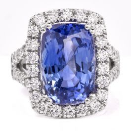 Certified GIA Natural No-Heat Sapphire & Diamond  Ring  item #SEB-21  $38,450.00  #sapphirering #sapphire #rings #diamonds #consignmentjewelry