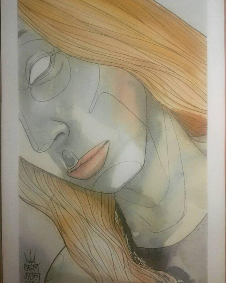 Acuarelas acuarelas acuarelas  #ugauga #art #acuarela #watercolor #watercolours #artwork #mujer #aquarella #drawing (en LA GARGOLA)
