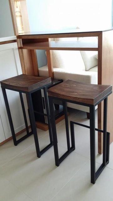 Americanos de la barra retro sillas sillas taburete de bar recepción elegante simplicidad hacer el viejo de madera, hierro forjado sillas