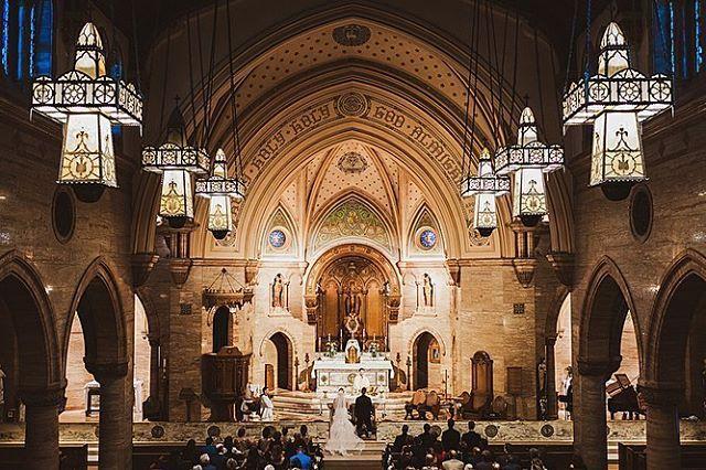 Indoor Colorado Wedding Ceremony Holy Ghost Denver Colorado Wedding Photographer Colorado Wedding Photographer Indoor Ceremony Colorado Wedding