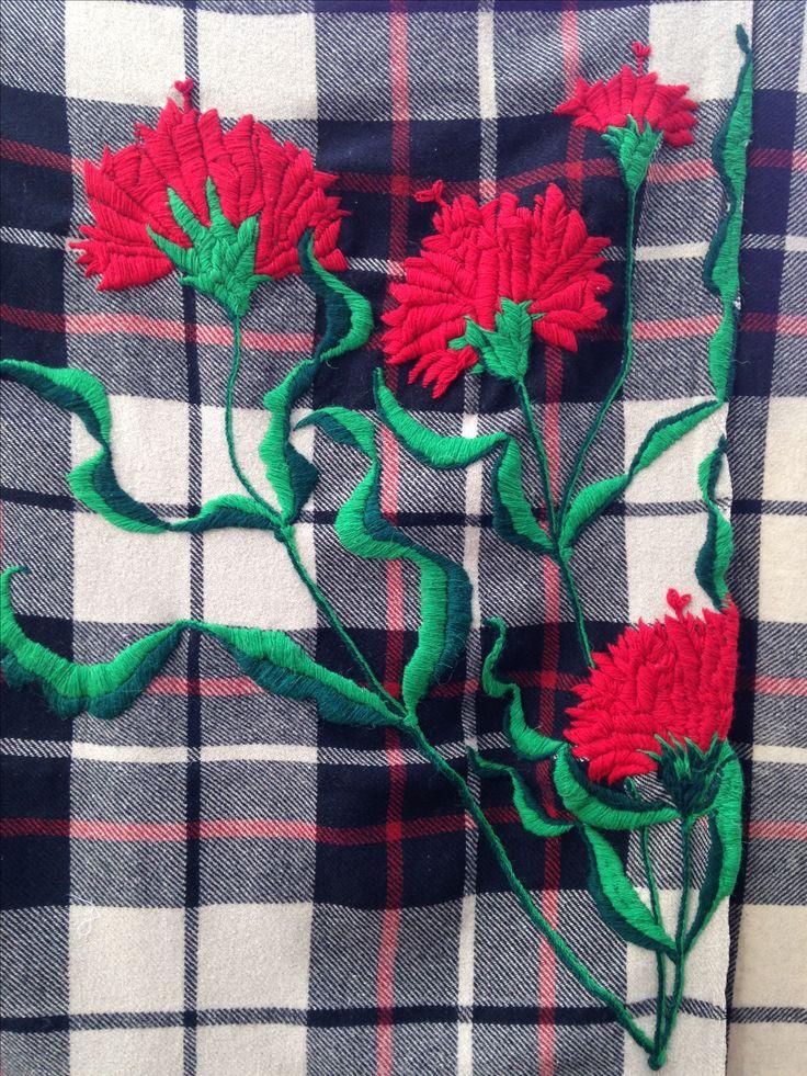 Diseño de Marta Day.  Nueva oportunidad para una manta de lana .