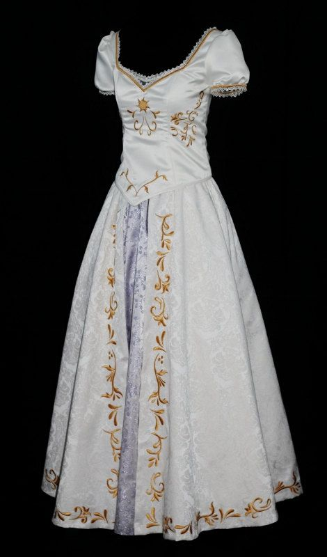 Rapunzel's wedding dress. One of my favorite Disney wedding gowns because it is pretty simple, beautiful, and modest.