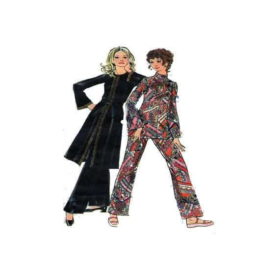 70s Retro Hostess Outfit Butterick 6478 Two by FindCraftyPatterns