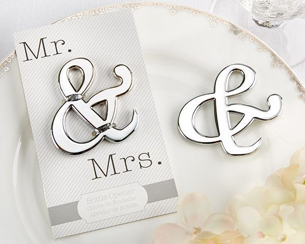 """""""Mr. & Mrs."""" Ampersand Bottle Opener (Available Personalized)"""