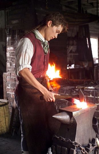 "Link to a site which explains the art of blacksmithing, includes tool info, etc. Click on the ""article"" link in the first paragraph."