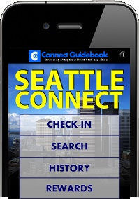 Screenshot of the Seattle Connect Guidebook app for iPhone.