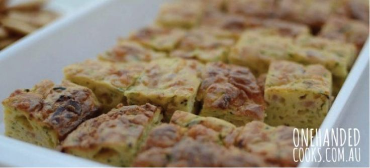 Served hot or cold zucchini slice is the perfect finger food for all ages. You can make this the day before so you have more time on the big day to enjoy  #recipes #food #healthy