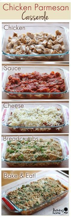 Chicken Parmesan Casserole Recipe /jramos1006/ (Note to self: Omit bread crumbs for low carb option)