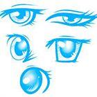 Примеры: как нарисовать женские глаза в стиле аниме