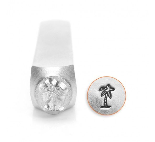ImpressArt - Nautical Beach Metal Stamps, Palm Tree, 6mm