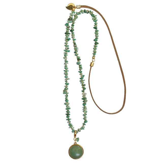 In love with this necklace! #aventurine #leather #necklace
