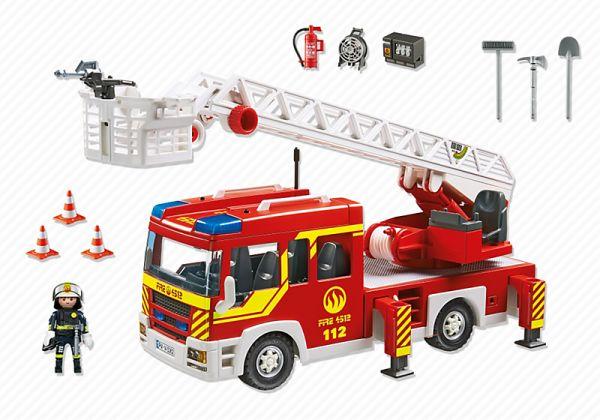 """19C SPÉCIAL SERVICE PUBLIC/D'ÉTAT """"véhicule d'intervention terre"""" 5362 Camion de pompier avec échelle pivotante et sirène"""