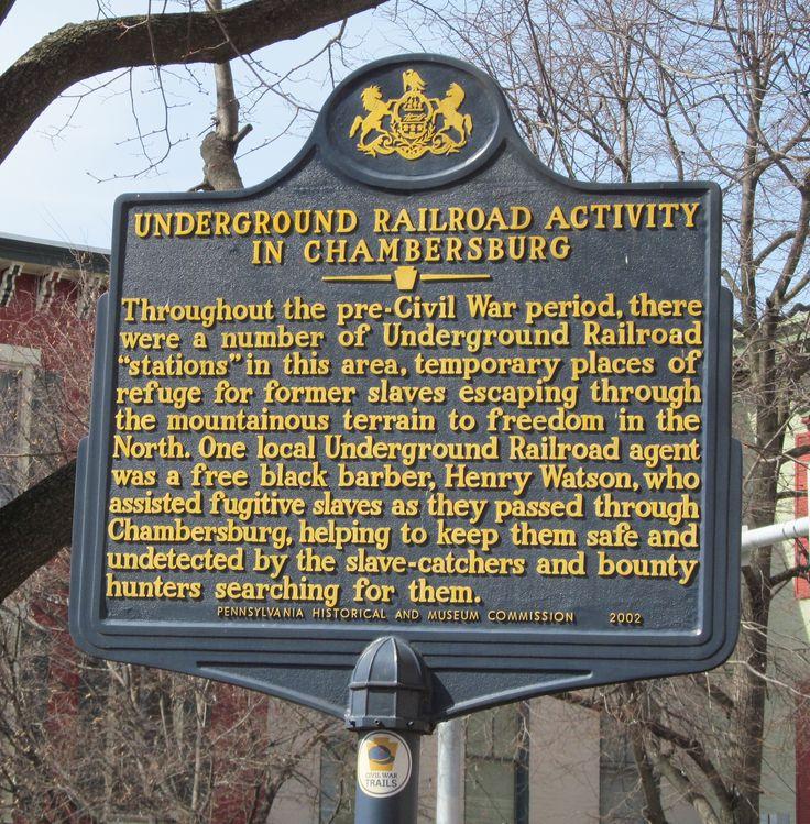 Underground Railroad activity in Chambersburg Pennsylvania 81