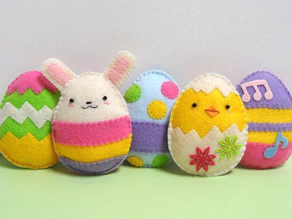 Felt~ Bunny, Chic & Eggs