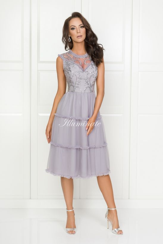 fc995b8b EMMA szara midi | Sukienki w 2019 | Sukienka, Sukienki i Druhny
