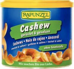 Organic Cashews roasted and salted in a tin 150g RAPUNZEL  Bio Cashews geröstet gesalzen in der Dose 150g RAPUNZEL