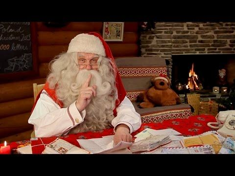 Video message from Santa Claus in Rovaniemi in Lapland