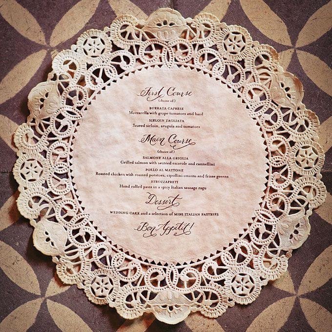Creative Wedding Menu Displays : Wedding Invites & Stationery Gallery