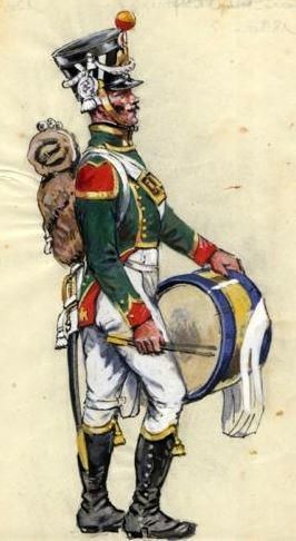 French; Imperial Guard Flanquers Drummer, 1815. Young Guard.
