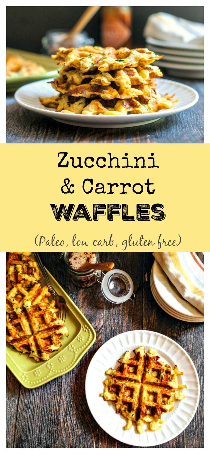 These Paleo zucchini & carrot waffles are quick to make and taste great. A…