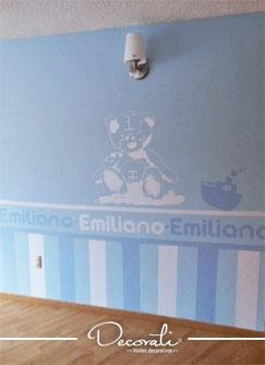 Decorando con vinil Decorati, cuarto para bebé.